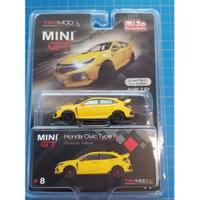MINI GT 1/64 Honda Civic Type R (FK8) Phoenix Yellow (LHD)