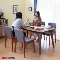 【RICHOME】羅莉餐桌椅組(一桌四椅)