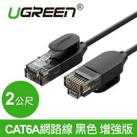 現貨Water3F綠聯 2M CAT6A網路線 黑色 增強版