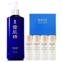 【KOSE 高絲】雪肌精化妝水500ml-限量版週年慶自選特惠組+高品質化妝棉1盒(正統公司貨)