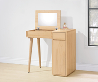 【尚品傢俱】HY-B149-06 丹麥原木全實木2.7尺掀鏡台(含椅)