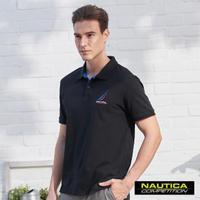 【NAUTICA】COMPETITION經典素色POLO衫(黑色)