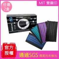 【善存】醫用口罩 2盒任選 50入/盒(黑色 撞色 紫 藍 綠)