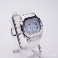卡西歐金屬小方塊銀塊玫瑰金SMFK同款手錶女GM-5600SK GM-S5600PG 1NPw