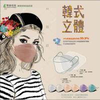 【聚泰X天畔庄】KF94★韓國口罩★立體 不沾妝★魚形口罩★台灣製★醫療口罩