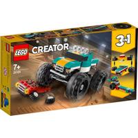LEGO 樂高 造物主3合1怪物卡車玩具31101兒童 酷玩構建套件 (163件)