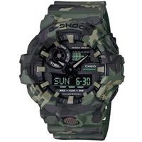 【CASIO 卡西歐】G-SHOCK 層次迷彩大按鈕運動錶-軍綠(GA-700CM-3A)
