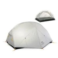 Mongar 2คน Camping เต็นท์20D ไนลอนผ้า Double Layer กันน้ำกลางแจ้ง Camping เต็นท์ NH17T007-M Naturehike