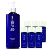 【KOSE 高絲】雪肌精化妝水500ml-贈淨透潔顏油33ml*6(正統公司貨)