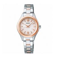 刷卡滿3千回饋5%點數|Seiko 精工錶 SPIRIT 1B21-0AS0KS(SWFH112J) 太陽能電波腕錶 / 銀*玫瑰金 28mm