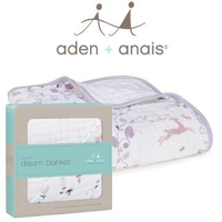 【aden+anais】有機棉四層厚毯(粉紫童話9143)