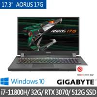 【GIGABYTE 技嘉】AORUS 17G XD 17.3吋 專業電競筆電(i7-11800H/GeForce RTX 3070/32G/512G SSD/Win10H)