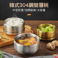 【CS22】韓式304雙層不銹鋼帶蓋飯碗(直徑11.5cm 韓國料理)