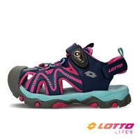 LOTTO樂得-義大利第一品牌 童款護趾戶外健走運動涼鞋 [LT1AKS3383] 粉【巷子屋】
