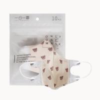 一心一罩 幼幼3D醫用口罩(10入/袋)~毛絨泰迪熊 易廷醫用口罩