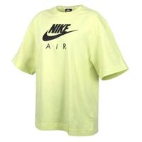 【NIKE 耐吉】螢光綠 Nike Air TOP 短袖 寬鬆 運動短袖 青春有你同款 短T 女款(CJ3106-367)