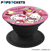 【PopSockets 泡泡騷】美國 No.1 時尚手機支架-凱蒂貓x帕恰狗-蘋果帕恰