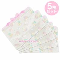 asdfkitty*雙子星有厚度透明夾鏈袋/口罩收納袋-5入-日本正版商品