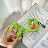 蠟筆小新 小熊餅乾 恐龍餅乾盒子airpods1/2代通用 3代pro矽膠保護套 台灣現貨