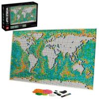 【LEGO 樂高】ART 31203 世界地圖(居家佈置 掛畫)