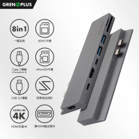 【Grenoplus】USB 3.0 Type-C(八合一Macbook Hub 雙HDMI孔多功能集線器)