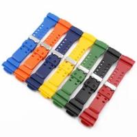 วัสดุ PU นาฬิกาเหมาะสำหรับ GA-110GB GA-100 GD120 GA400 GA-700 Casio กีฬานาฬิกาสายคล้องคอสแตนเลส