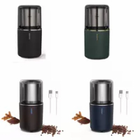 Cordless Coffee Grinder Electric Coffee Bean Grinder USB-C Rechargeable Electric Coffee Grinder for Spices Nuts