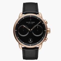 刷卡滿3千回饋5%點數|Nordgreen Pioneer先鋒 玫瑰金系列極夜黑腕錶42mm(PI42RGLEBLBL)