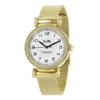 刷卡滿3千回饋5%點數|COACH 女錶 手錶 米蘭式錶帶 32mm 女錶 手錶 腕錶 晶鑽錶 14502652 香檳金色(現貨)▶指定Outlet商品5折起☆現貨