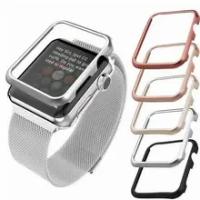 ฝาครอบเคสคุณภาพสูงสำหรับ Apple Watch Band 42มม.38มม.40มม.44มม.สำหรับ Iwatch Series Se 6 5 4 3 2 1กรอบโลหะป้องกันกรณี