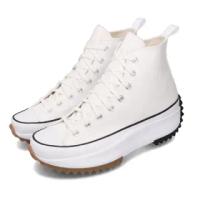 【CONVERSE】休閒鞋 Run Star Hike 穿搭 女鞋 厚底 舒適 帆布 平民版 簡約 時尚 白 黑(166799C)