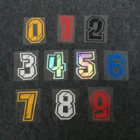 Arabic Numbers Decorative Paster Motorcycle Racing Stickers DIY Refit Reflective Sticker Car Styling Motorcycle Head Decals