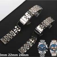 20 มม.22 มม.24 มม.สแตนเลสสตีลนาฬิกาสร้อยข้อมือสำหรับBreitlingสายคล้องนาฬิกาสำหรับAVENGER NAVITIMER SUPEROCEAN watchband