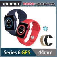 金屬錶帶超值組【Apple 蘋果】Apple Watch Series6(S6) GPS 44mm 鋁金屬錶殼搭配運動錶帶