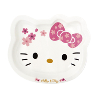 【Sanrio三麗鷗】Hello Kitty 造型陶瓷盤-櫻花(26x22x2.7cm)