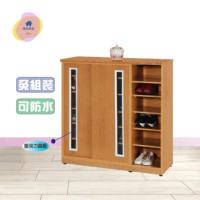 【·Fly· 飛迅家俱】4尺滑門半開放塑鋼鞋櫃(可水洗)