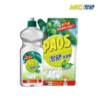 【泡舒】洗潔精 綠茶去油除腥-600g+補充包800g(小資省錢組)