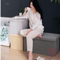 收納凳子儲物凳可坐沙發家用長方形椅收納箱凳【櫻田川島】