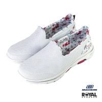 Skechers Go Walk 白色 織布 運動健走鞋 女款 NO.J0325【新竹皇家 124004WMLT】