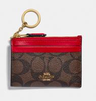 刷卡滿3千回饋5%點數 【預購】 COACH💋皮革卡夾鑰匙零錢包 【MISS J.T.P專業代購】