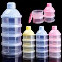 กระเป๋าเดินทางเด็กทารก4ชั้นนมผงขวดเด็กวัยหัดเดินแบบพกพาสูตรกล่อง