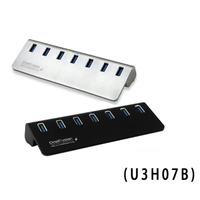 免運 伽利略 USB3.0 5Gbps 7port 充電 HUB 鋁合金 附變壓器 U3H07B