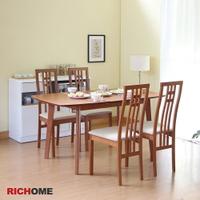 餐桌椅組 餐桌 餐椅 餐廳    RICHOME TA405+CH1224 雅朵拉餐桌椅組(一桌四椅)-2色