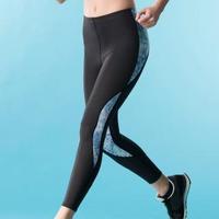 【Wacoal 華歌爾】專業運動 M-3L 長版壓力褲-吸濕快乾-階段式加壓(活力藍)