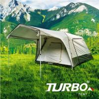 【露營趣】TURBO TT-TL300 TENT Lite 300 8人快速帳篷 專利快速帳 八人帳 30秒快速帳 速搭帳篷 鋁柱 露營 野營