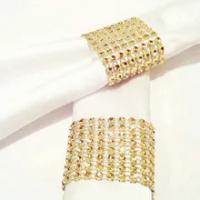 10Pcs Diamond Napkinแหวนผู้ถือNapkinสำหรับงานแต่งงานHome Centerpiecesตกแต่งอุปกรณ์ทองเงิน