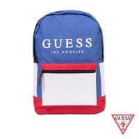 【GUESS】男包-時尚撞色經典LOGO後背包-藍(NL742398BLM)