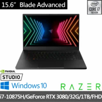 【Razer 雷蛇】Blade Advanced 15.6吋360Hz電競筆電(i7-10875H/GeForce RTX 3080/32G/1TB SSD/Win10)