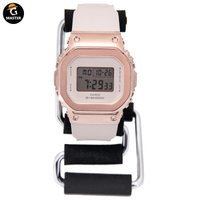 CASIO卡西歐G-SHOCK金屬小方塊復古手錶女GM-S5600-1/S5600PG-1/4 3Dhr