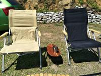 露營戶外休閒 折疊椅 靠背加厚帆布 休閒椅釣魚燒烤露營椅-卡其/黑色